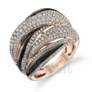 Elma Gil unique diamond ring black