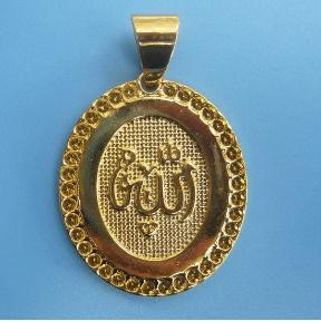 religious gold pendant