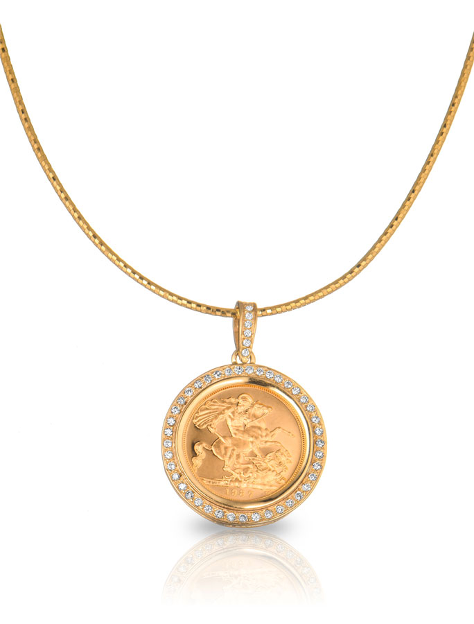 unique gold pendant