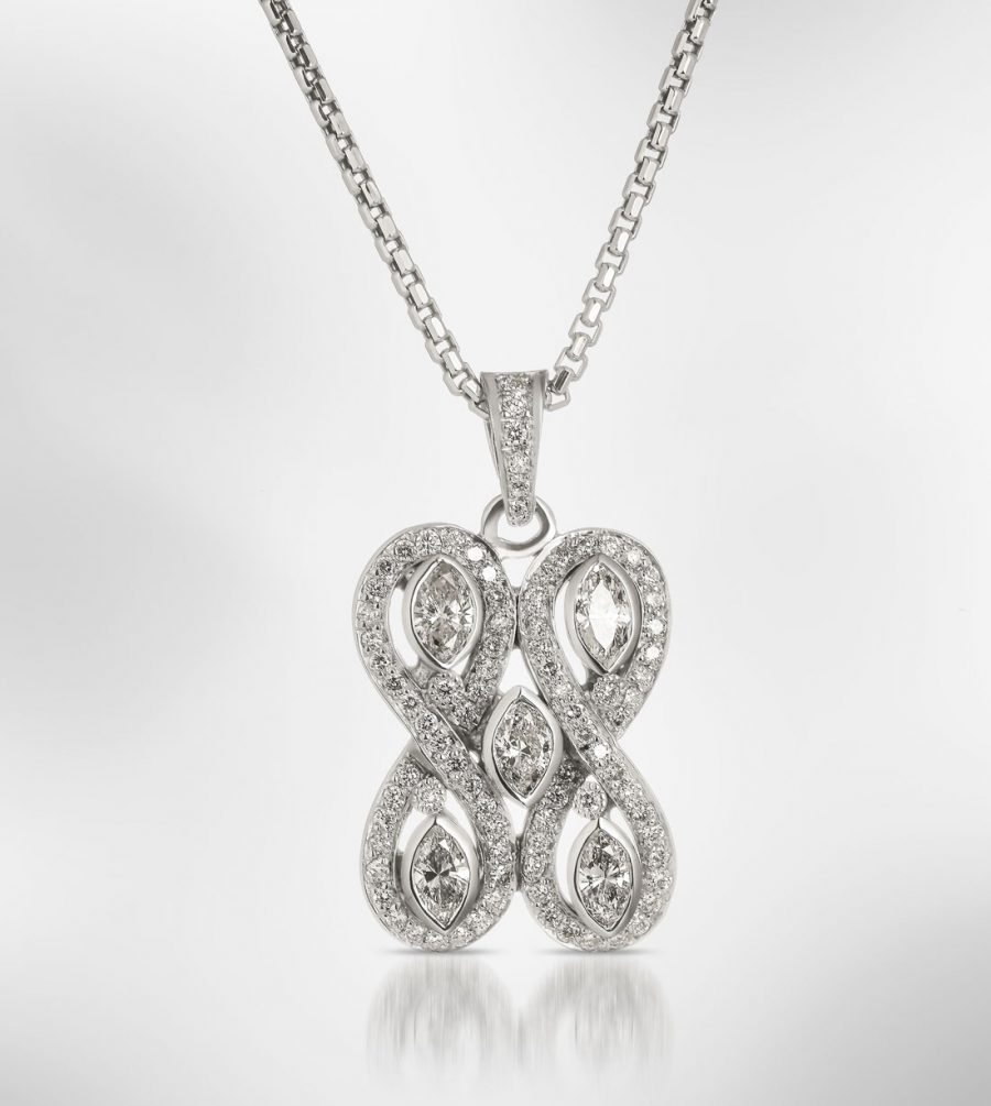 custom diamond necklace pendant eli antypas jeweler