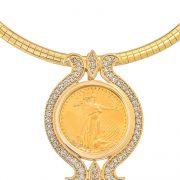 coin gold pendant
