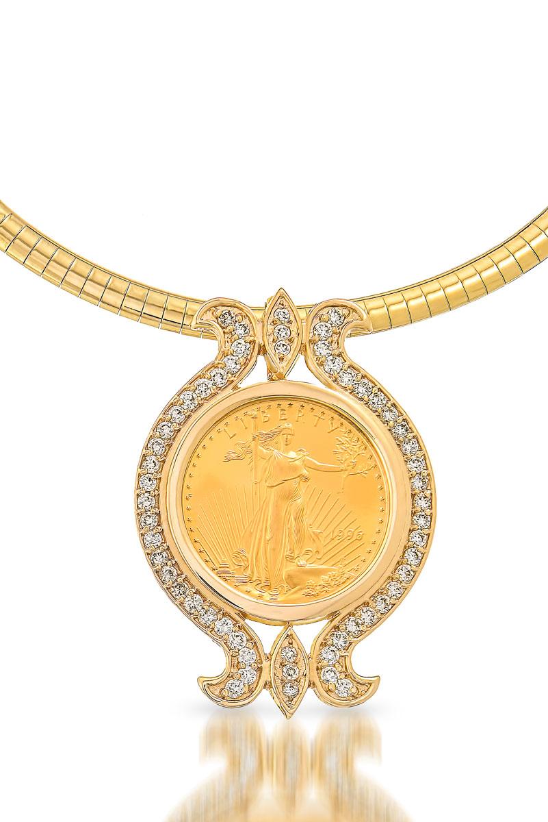 Eli antypas jewelers toledo diamonds jewelry appraisals custom coin gold pendant aloadofball Image collections