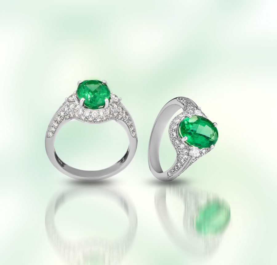 Custom Designed Emerald Ring